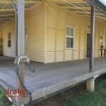 Return veranda timber floors and post