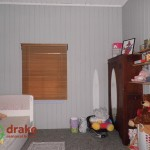 Old colonial bedroom with VJ walls and ceilings